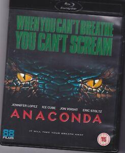 Anaconda (1997) 88 Films UK Blu Ray  Jennifer Lopez Ice Cube Jon Voight