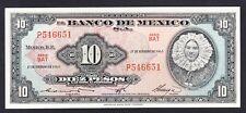 Mexico 10 Pesos 17-02-1965  UNC P. 58,  Banknotes, Uncirculated