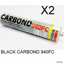 X2 Black Carbond  940FC Adhesive Sealant Car Body Bond Glue Soudal Metal Marine