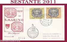 SAN MARINO FDC CAPITOLIUM 86 SERIE ALLEGORICA 1972  (244)