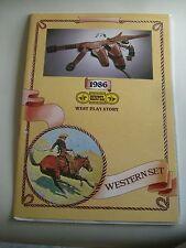 a Original Ginpel Katalog 1986 Revolver + Gürtelholster Spielzeug Waffen   Italy