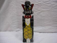 Vintage Pandora Products Black Poodle Red Clay Bottle w/ Cork Wine/Champaigne?