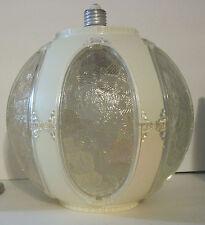 Vtg Retro Ceiling Lamp Light Fixture Lucite Globe Shade Round Porcelain Socket