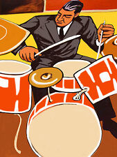 SHELLY MANNE PRINT poster jazz drums mannekind cd swing my fair lady snare cymba