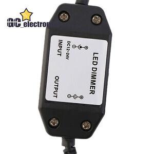 LED Dimmer Switch Brightness Adjust Controller LED Strip Light DC 12V Black A3US