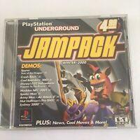 PlayStation Underground Jampack: Winter 2K Sony PlayStation 1 2000 PS1 Demo Disc