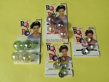 Vintage 1997 New On Card GOODY BO BO 4 Pairs Pony Tail Holders Multi Colors Lot2