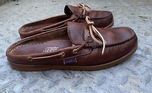 Vtg Sebago Low Back Docksides Deck Shoes  Size UK 9