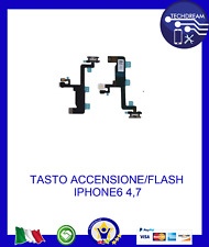 FLEX FLAT TASTO ACCENSIONE PULSANTE POWER ON OFF FLASH PER APPLE iPhone 6 NUOVO