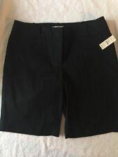 TALBOTS petites Women's Black Shorts 8 orig. $44.50 NWT
