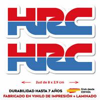 2X VINILO ADHESIVO PEGATINA STICKER HRC HONDA MOTO CARRERAS GP RACING VINYL