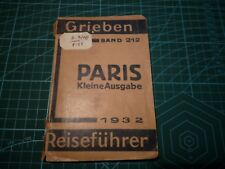 Rare German pocket guide to Paris.1932. (Reisefuhrer)