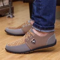 Men Flats Hit color Canvas Mesh Breathable Recreational Shoes Casual Amazing Hot
