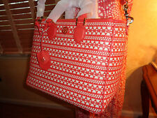 NWT TORY BURCH ROBINSON WOVEN Square Tote Double Zip $795 DustBag CORAL/Dulce