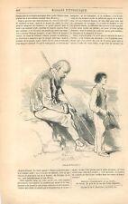 Bélisaire demandant l'aumône Grognard de la Grande Armée Napoléon GRAVURE 1847