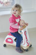 Indigo Jamm Retro ride on wooden scooter toy for developing fine motor skills