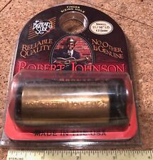 2003 ROBERT JOHNSON EMBOSSED MEMORIAL BRASS GUITAR SLIDE ORIGINAL PACKAGING