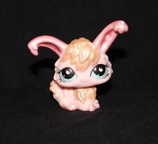 Littlest Pet Shop LPS Pink Shimmer ANGORA BUNNY RABBIT #868 Blue Moon Eyes pearl