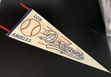 Vintage MLB Los Angeles DODGERS Baseball Felt Pennant
