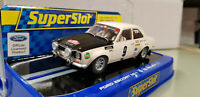 Slot car Scalextric Superslot H3440 Ford Escort MK1 #9 Rally Monte Carlo 1970