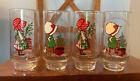(4) Vintage COCA-COLA Holly Hobbie Christmas 16Oz Tumbler Glasses Set Lot