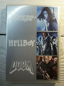 Resident Evil Apocalypse + Hellboy + Doom DVD SET - 3 Movies R4 Aus