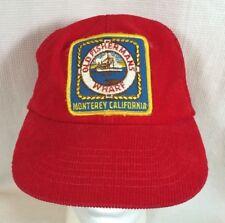 "Vintage ""Old Fisherman's Wharf - Monterey, California"" SnapBack Corduroy Hat Cap"