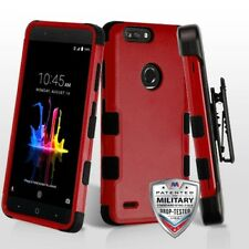 RED TUFF COVER CASE +STAND/CLIP + SCREEN FILM FOR ZTE Blade Z Max Z982