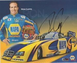 2011 Ron Capps signed Napa Auto Parts Dodge Charger Funny Car NHRA Hero Card