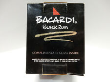 Bacardi Black Rum complimentary square glass with logo in original box
