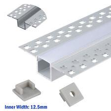 Aluprofil 6x1M Aluminium Trockenbau-Profil-Leiste eloxiert für 12mm Streifen