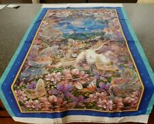 Dreamland Panel 23x42 Liz Goodrick Dillon Quilting Treasures Fairies Unicorn