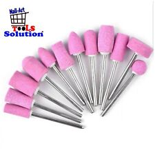 Punta fresa unghie quarzo 12 pezzi manicure pedicure rimuovi calli lucidatura