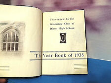 Dixon Illinois High School Year Book1935 Acceptable Good Condition (musty smell)