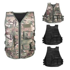Military Airsoft Tactical Vest Hunting Waistcoat MutiPocket Outdoors Games