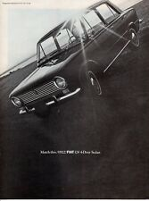 Vintage automobile Print car ad Fiat 124 Four Door Sedan nice old auto  1968 ad