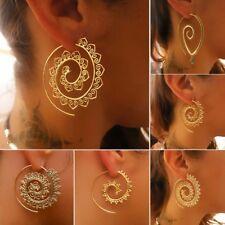 1 Paar Gold Silber Ohrring Messing Spirale Ohrstecker Schnecke Boho Ohrschmuck