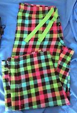 Pantaloni pigiama donna scacchi fantasia scozzese XL in cotone Faded Glory