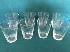 ETCHED FLEUR DE LIS WATER GLASSES SET OF 8