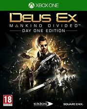Deus Ex: Mankind Divided Day One Edition For XBOX One (New & Sealed)