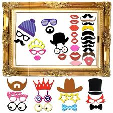 60Pcs Party Props Photo Booth Frame DIY Dress-up Selfie Birthday Wedding