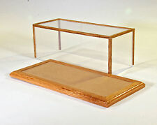 1/24 Scale Golden Oak Model Car Display Case w/Tan Felt Floor - Oak Hill Crafts