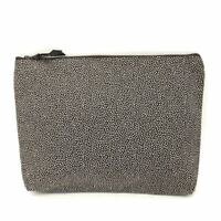 Thirty one zipper pouch organizer cosmetic bag make up Brown pin dots  31 gift