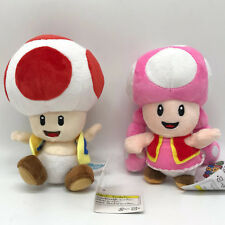 2X Super Mario Odyssey Plush Soft Toy Toad Toadette Stuffed Animal Doll 7""