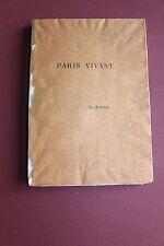PARIS VIVANT de Clovis HUGUES - le Journal - ex.réservé N° 30 sur marais 1890