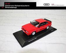 Audi quattro 1980 Miniatur Rot Maßstab 1:18 Audi Tradition Modellauto Ringe