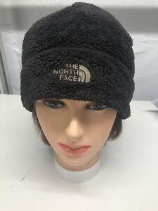 north face dark gray fleece beanie hat One Size