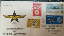 O) 1957 GHANA, PALM NUT VULTURE - BRITANNIA PLANE - STRATO CRUISER  AND ALBATROS