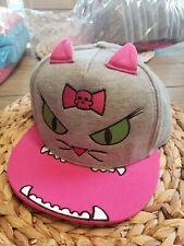 David & Goliath Baseball Cap For Girl's Cat Pink Grey Brand New