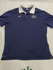 New listing Nike Penn State Polo Golf Short Sleeve Shirt Mens 2XL XXL